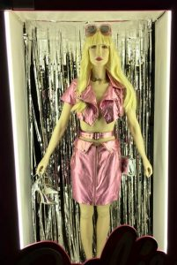 Fig 1. Barbie, costume by Stef Greenslade. Photograph Susan Bishop