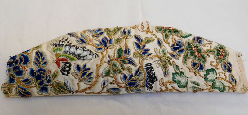 Fig 1. Textile fragment, Worthing Museum. Photograph by Susan Bishop
